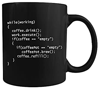 Coffee++ Program - Ceramic Coffee Mug - Makes a Great Gift for Programmers under $15!