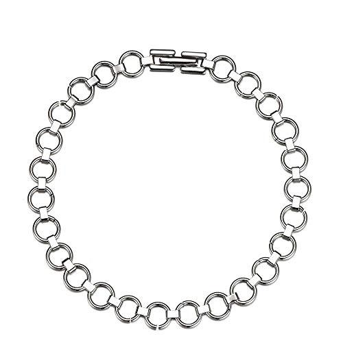 Armband, Schmuck, Ohrringe, Kreis, einfache Ketten aus Edelstahl, Charme-Armbänder für Frauen, Schmuck als Geschenk