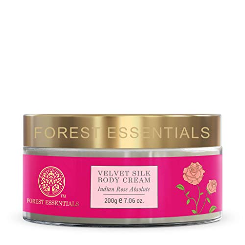 Forest Essentials Indian Rose Absolute Velvet Silk Body Cream, 200g