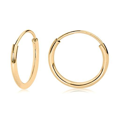 10mm YG Endless Hoop Earrings in 14k 41100
