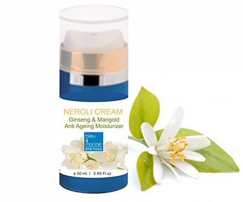 Crema Hidratante Anti Edad con Neroli, Ginseng y Caléndula - airless 50 ml - bleu&marine Bretania