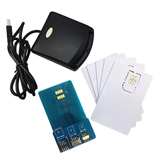 LTE WCDMA ICCID SIM USIM 4G Secure Card Reader Writer Programmer with 5pcs Blank Programable Card + SIM Personalize Tools by XCRFID