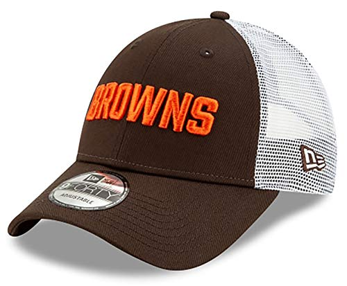 New Era Cleveland Browns Trucker 9FORTY Snapback Adjustable Brown Hat
