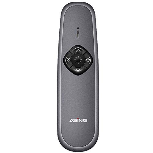 Asing Advanced Digital Laser Presentation Remote - Green Laser Presentation Pointers with Function of Spotlighting, Highlighting, Magnifying, Air Mouse and PPT Clicker (128GB)