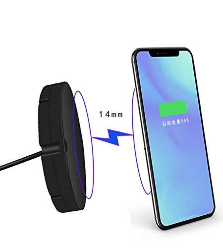 QXIAO Cargador Inalámbrico Teléfono Móvil Inducción16 Mm, Superficie Azulejo Escritorio Estación Carga Inalámbrica Rápida Oculta Inalámbrica 10W Escritorio Portátil iPhone XS MAX/XS/XR/X / 8/8 Plus