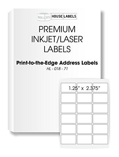 "HOUSELABELS 18 Up Address Labels (2-3/8"" x 1-1/4"") for Laser and Inkjet Printers, 50 Sheets / 900 Labels"