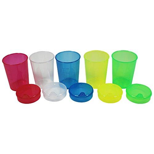 5Schnabeltassen + 5Deckel mit mittlerer Öffnung (8x4),Trinkbecher,Schnabelbecher