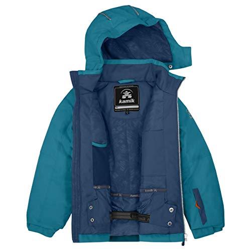 Kamik Winterjacke Skijacke Zade SOLID atmungsaktiv 5.000 mm Wassersäule Gr.92-152 blau 110