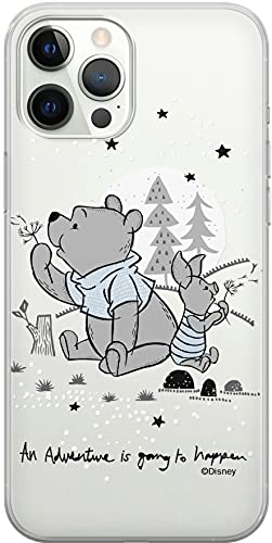 ERT GROUP Original & Offiziell Lizenziertes Disney Smartphone-Hülle für iPhone 12/12 PRO, optimale Smartphono-Form, stoßfest, DPCPOOHPIG7318, Winnie The Pooh