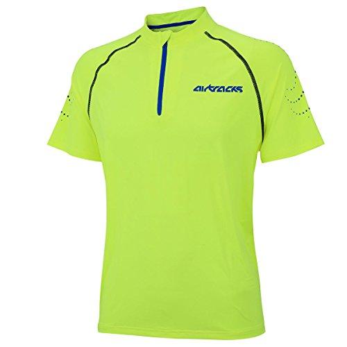 Airtracks FUNKTIONS Laufshirt Kurzarm PRO Team/Running T-Shirt/Funktionsshirt/ATUMUNGSAKTIV - neon - XL