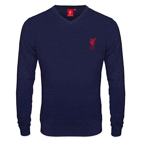 Liverpool FC - Herren Strickpullover mit Vereinswappen - Offizielles Merchandise - Geschenk für Fußballfans - M