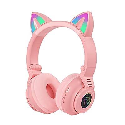Amazon - Save 80%: Cat Ear Wireless 5.0 Luminous Computer Gaming Headset Bluetoo…