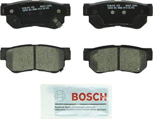 Bosch BC813 QuietCast Premium Ceramic Disc Brake Pad Set For Select Hyundai Azera, Elantra, Santa Fe, Sonata, Tucson, XG300, XG350; Kia Amanti, Magentis, Optima, Sportage; Rear