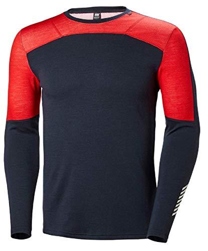 Helly Hansen HH Lifa Merino Crew, camiseta interior 2 en 1 para bajas temperaturas con 100% lana merina en el exterior y la tecnología Lifa en el interior