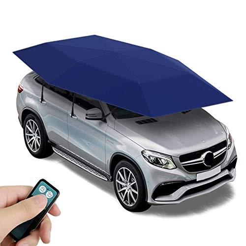Mago Automatische tent, draagbaar, auto-paraplu-tent-afdekking, zelfauto-overkapping, zonwering, uv-bestendig, waterdicht, bestand tegen sneeuw, wind-bestendig, 460 x 230 cm