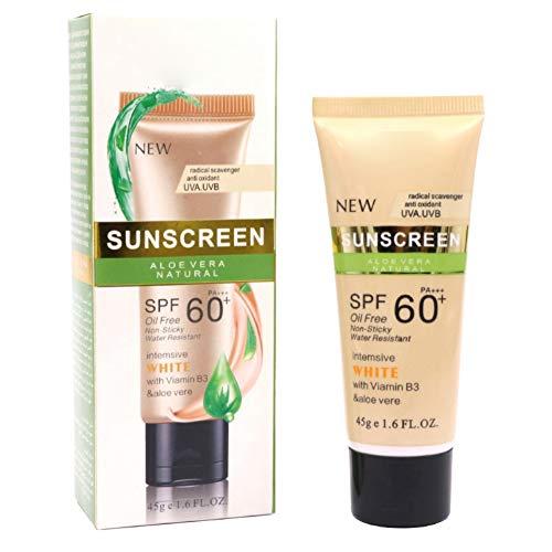 Dkhsy Whitening Crema solar suave Crema solar Crema protectora de la piel Control del aceite antienvejecimiento Hidratante Cara Crema solar corporal SPF 50 60 90 Cara