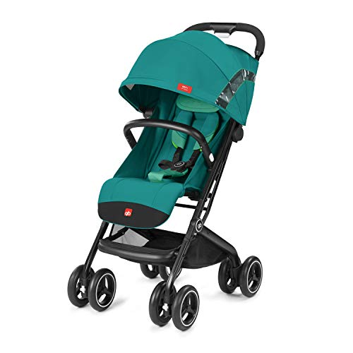 GB Qbit+ All Terrain Compact Pushchair, Ideal for travel, 3-in-1 Travel System, From Birth to 15 kg (approx. 4 years), Laguna Blue