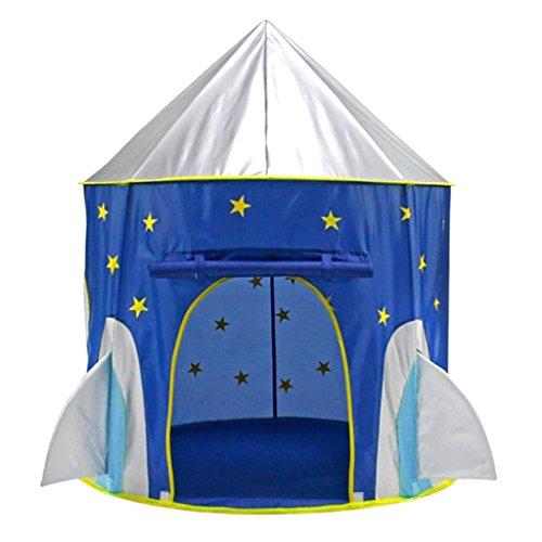 IPOTCH 105x135cm Juguete de Tienda de Campaña Castillo en Forma Espacio Cápsula Infantil Plegable Juego de Viaje Pincic para Niños