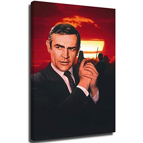 SSKJTC Sean Connery James Bond You Only Live Twice - Lienzo decorativo para pared (40 x 24 cm)