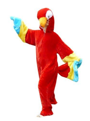 Pagageien-Kostüm, F32 Gr. M-L, Papagei Faschingskostüm für Männer und Frauen, Papageien-Faschingskostüme, für Fasching Karneval Fasnacht, Karnevals-Kostüme, Faschings-Kostüme, Geburtstags-Geschenk