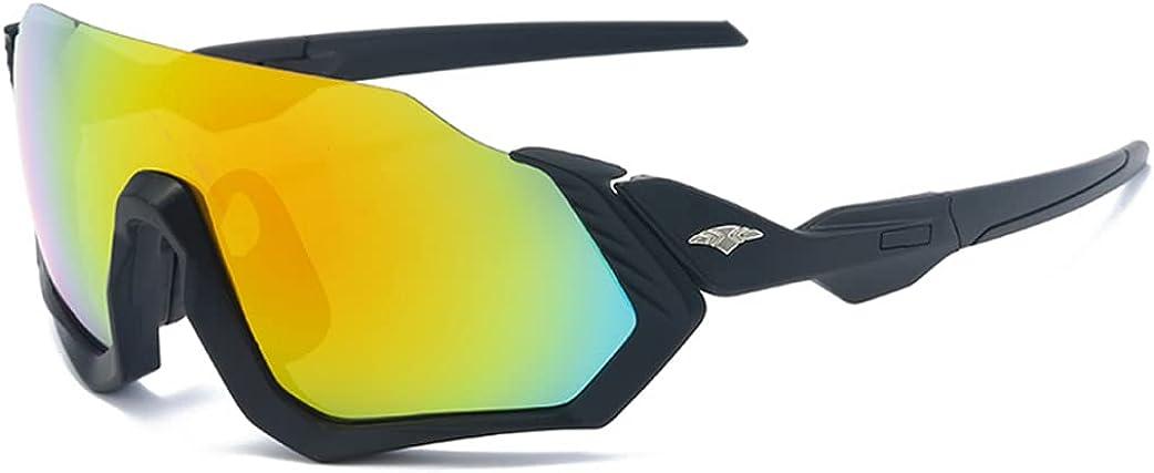 Ncheli Gafas Ciclismo Polarizadas ,Gafas Sol Polarizadas Ciclismo Anti-UV Gafas De Sol Gafas Polarizadas para Corriendo,Moto MTB Bicicleta Montaña,Camping y Actividades al Aire Libre