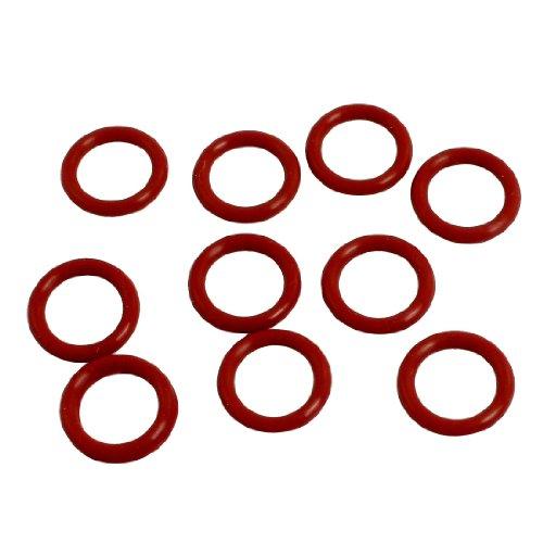 sourcing map 10 x mécanique O Rings Joint d'huile d'étanchéité Rondelles Rouge 13 mm x 2 mm