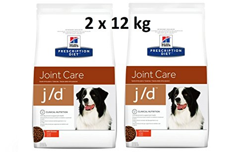 Hill's Prescription Diet j/d 2 x 12 kg Joint Care Hundefutter mit Huhn