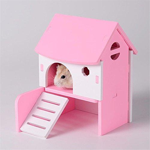 Pet Online Hamster cabaña de color diy cabaña cabañas accesorios para mascotas jaula, rosa