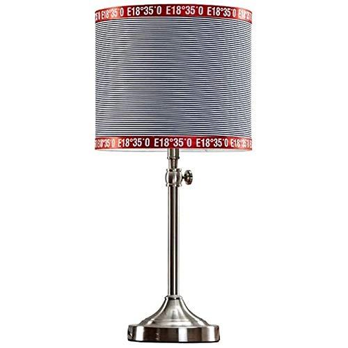Liangsujiantd Flexo Led Escritorio, Nordic rayada lámpara de mesa, minimalista moderna del dormitorio del hogar lámpara de cabecera, creativo altura ajustable Sala iluminación de la decoración de la s
