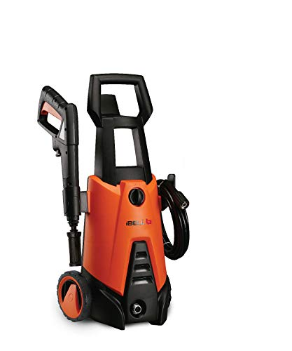 iBELL WIND66 Universal Motor 1400 W 100bar 5.5L/Min Flow High Pressure Washer for Cars/Bikes & Home Cleaning Purpose (Black & Orange)