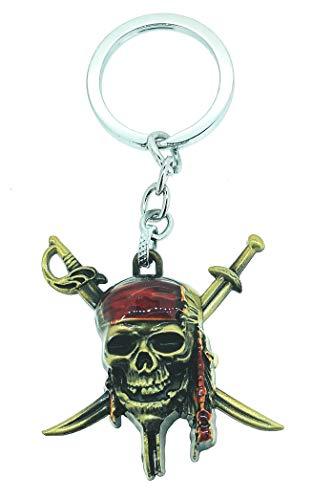 Gemelolandia Llavero Piratas del Caribe | para Guardar y Tener recogidas Las Llaves | Porta Llaves Original y Práctico | Organizador de Llaves Compacto