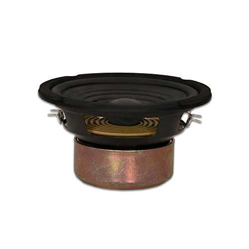 Goldwood Sound GW-406D - Altavoz de Repuesto (Bobina de Voz Doble, 16,5 cm), Color Negro
