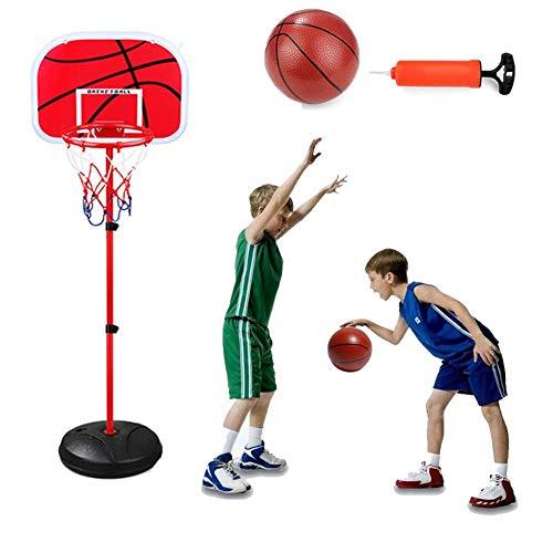XIUYU Kinder-Basketball Standmontage, bewegliche Abnehmbarer Basketballkorb Einstellbare Höhe Basketball-Set for Kinder Jugend Jugendliche