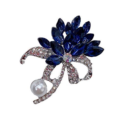 Desconocido Genérico 1 Pza Broche de Cristal de Moda Creativo Versátil Broche de Aleación para Mujer