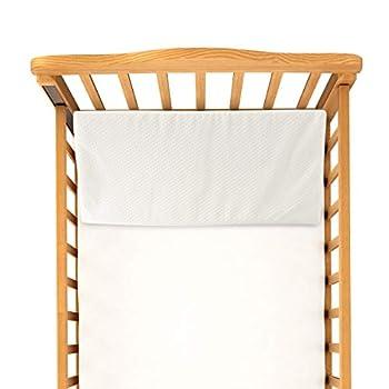 Bluestone Crib Wedge – Angled Memory Foam Baby Cushion Sleep Positioner for Infants and Newborns – Machine Wash Water Resistant Flame Retardant