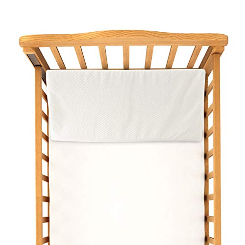 Bluestone Crib Wedge – Angled Memory Foam Baby Cushion Sleep Positioner for Infants and Newborns – Machine Wash, Water Resistant, Flame Retardant