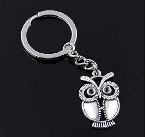 Eule Schlüsselanhänger Figur 3cm Metall | Geschenk | Kinder | Mädchen | Jungen | Vogel | Uhu | Tier