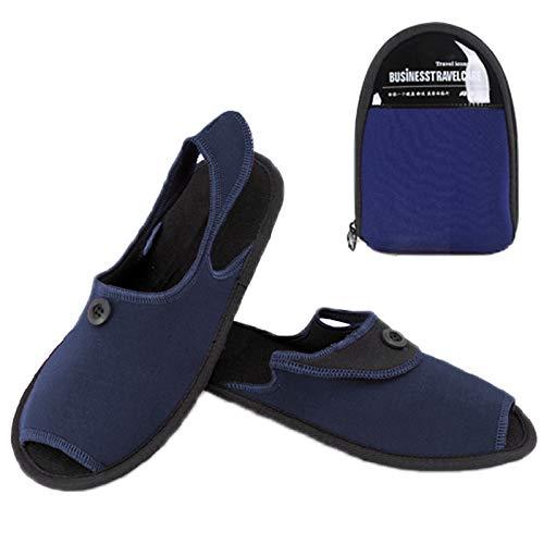 chinawh Isomatte im Freien zusammenklappbaren tragbaren Slipper Größe: L (Color : Blue)