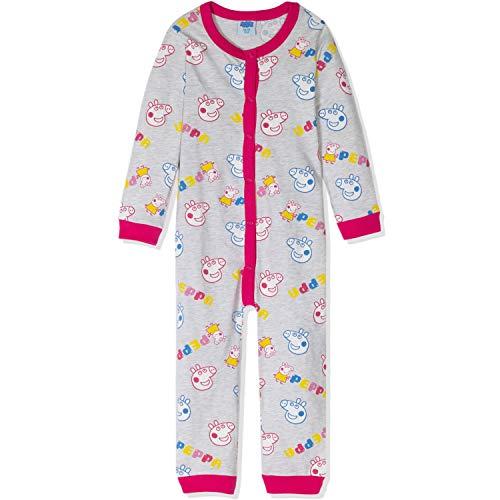 Peppa Pig Schlafanzug für Mädchen, langärmelig, 99 % Baumwolle, 3–8 Jahre Gr. 5-6 Jahre, grau