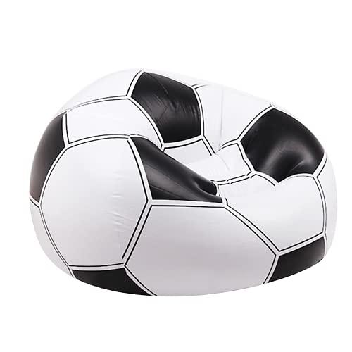 Balón PUF de fútbol Hinchable, Pelota de Puff. Resistente, Hinchable y Ajustable (hinchando +- Aire) Incluye Parche REPARACIÓN. TAMAÑO: 108 x 110 x 66 cm.