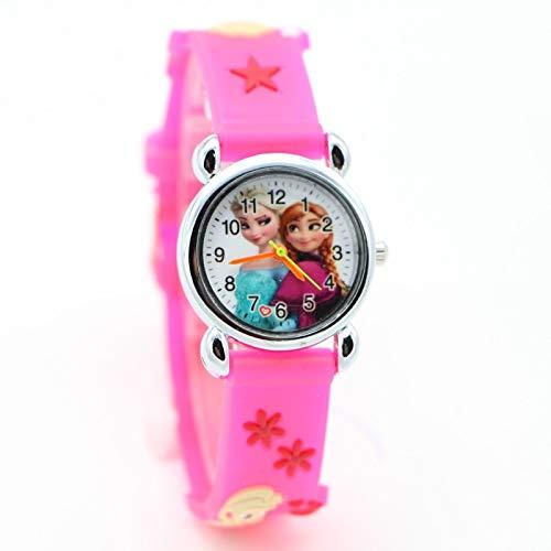 Selles® Nina - Kinder Uhr - Armbanduhr für Kinder Eiskönigin ELSA Anna - Analog Quarzuhr mit Silikonband NS2180 Neu