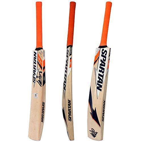 Spartan MSD Edition Grade 5 Kashmir Willow Cricket Bat ( Size: 6,Leather Ball )