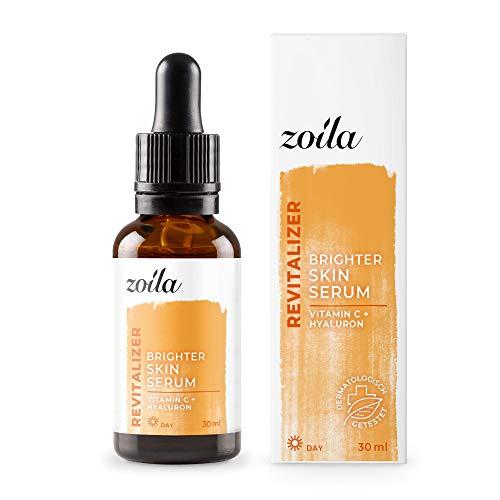Vitamin C Serum mit Hyaluronsäure | 30ml Premium Vitamin-C Serum hochdosiert | Ideales Anti-Aging Serum und Kollagen Serum für Gesicht