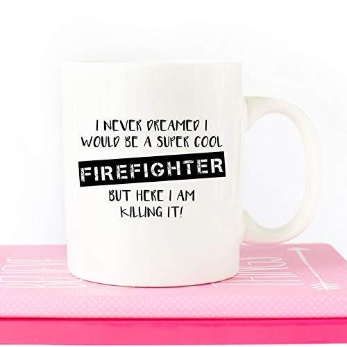 N\A Taza de Bombero Regalo de Bombero Regalo de Bombero Héroe de Fuego Regalos de Bombero Cumpleaños de Bombero Día del Padre Taza de café para el hogar del Bombero