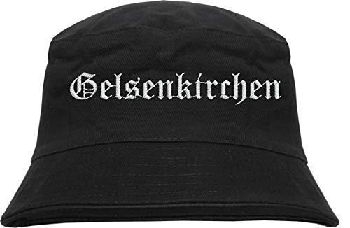 HB_Druck Gelsenkirchen Fischerhut - Bucket Hat - Bestickt - Schwarz L/XL