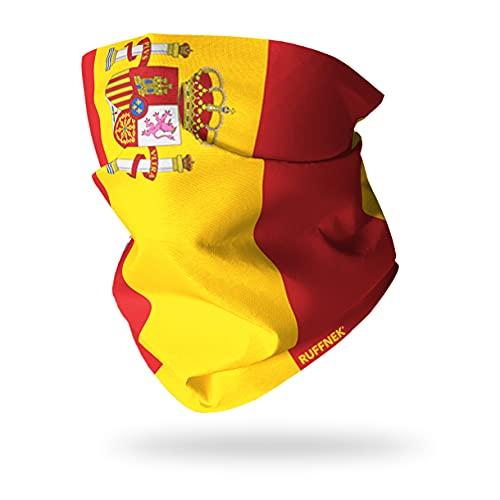 Ruffnek Drapeau de Espagne (Civil) / Bandera de Espagne / la Rojigualda Multifonction Cache-Cou - Taille Unique