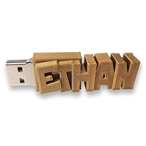 Clé USB Personnalisée avec Votre Texte (8 Go, Or) - Un Cadeau Original et Unique - USB 3.0