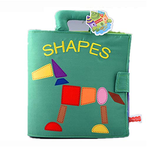 Xhtoe Denkspiel Weiches haltbares Tuch-Buch for Babys, Early Learning Education Interactive Baby & Baby-Spielzeug for Kinder für Mädchen Jungen (Color : Green, Size : 27x22cm)