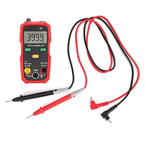 Emoshayoga Multímetro Digital Inteligente RMS NCV de Alta precisión para electricistas para Oficina para el hogar(Red)