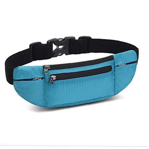 Laufgurt Sport Hüfttasche Tasche wasserdichte Gürteltasche Workout Gürtel iPhone Laufhalter Handy-Beutel Für Frauen Und Männer 1pc Himmelblau